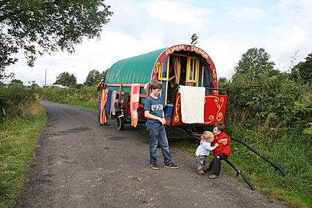 Mit Pferd und Planwagen durch Irland