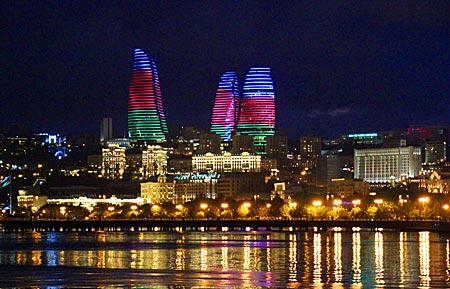 Aserbaidschan - Flame Towers in Baku