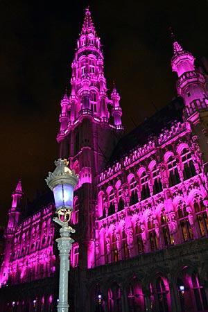 Belgien - Brüssel - das alte Rathaus an der Grand' Place