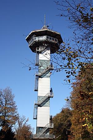 Der Baudouin-Turm auf dem Dreiländerpunkt