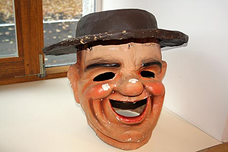 Belgien - Malmedy - Maske im Karnevalsmuseum