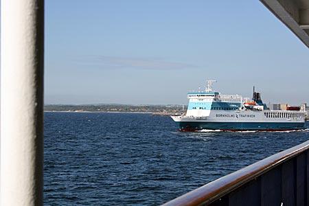 Dänemark - Bornholm - Einfahrt per Fähre in den Hafen von Rønne