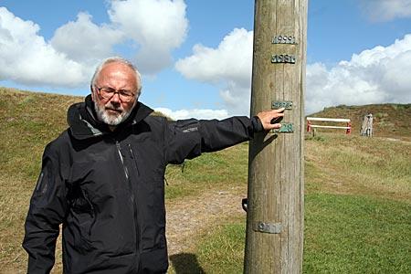 Dänemark - Mandö - Sturmflutmarken