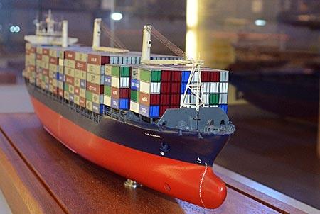 Modell eines Frachters im Küstenmuseum Wilhelmshaven