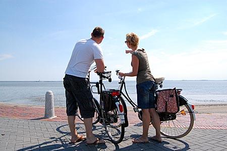 Blick aufs Watt bei Wilhelmshaven