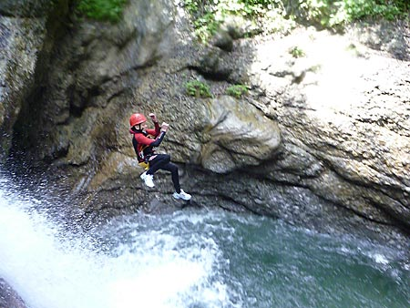 Canyoning im Allgäu - Foto: baWILDria