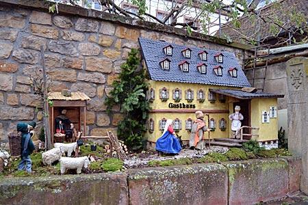 Herbergssuche auf Pfälzisch: Krippe in Bornheim