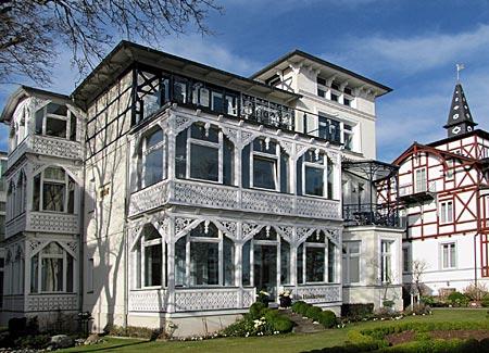 Rügen - Binz - Villa Haiderose an der Strandpromenade erbaut 1896