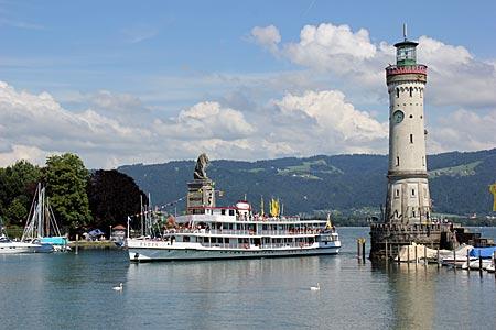 Bodensee-Radweg - Hafen von Lindau am Bodensee