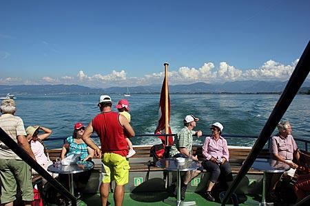 Schiffstour auf dem Bodensee bei Rheineck
