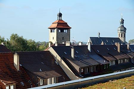 Bruchsal - gotische Stadtkirche und Bergfried