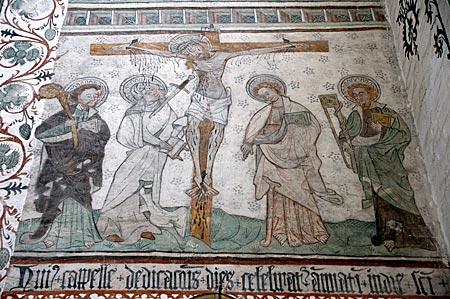Greifswald - Freskenmalerei in der Marienkirche