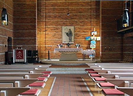 Mönchsweg - Johannes-der-Täufer-Kirche in Horstedt