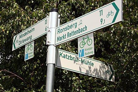 Allgäu - Radweg-Wegweiser