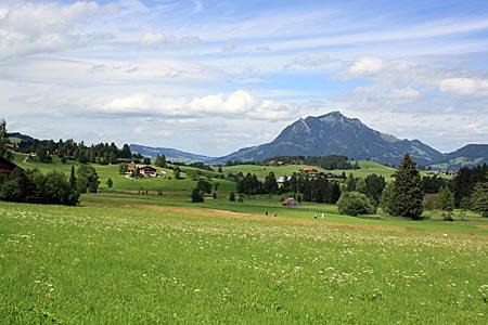 Allgäu - Blick über die Landschaft