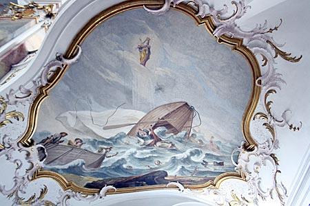 In der barocken Wallfahrtskirche in Maria Steinbach