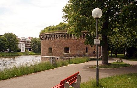 Ulm - Unterer Donauturm, roter Turm genannt
