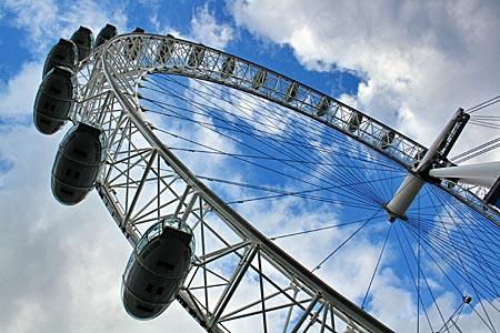 England - London - Riesenrad London Eye