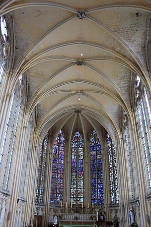 Frankreich - Abteikirche in St.Germer-de-Fly