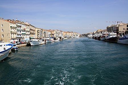 Frankreich - Canal du Midi - Sète und Hafen von Sète