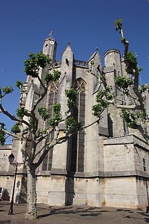 Frankreich - Canal du Midi - die gotische Kollegiatskirche Saint-Etienne