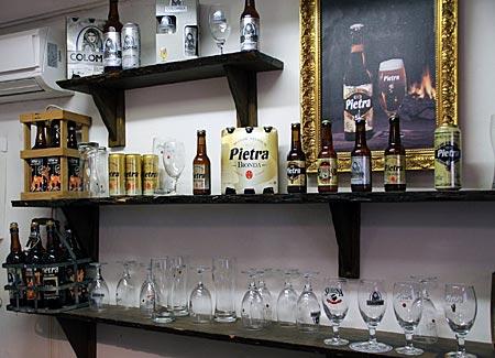 Korsika - In der Brauerei Pietra wird Bier mit Kastanienmehlzusatz hergestellt