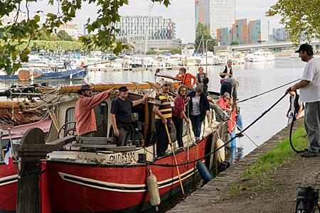 Frankreich - Nantes in der Bretagne - Schiffe auf dem Fluss