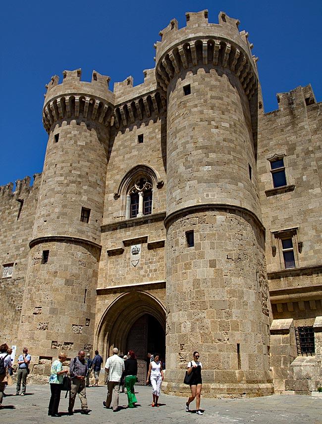 Rhodos Stadt - Hauptportal des Großmeisterpalastes