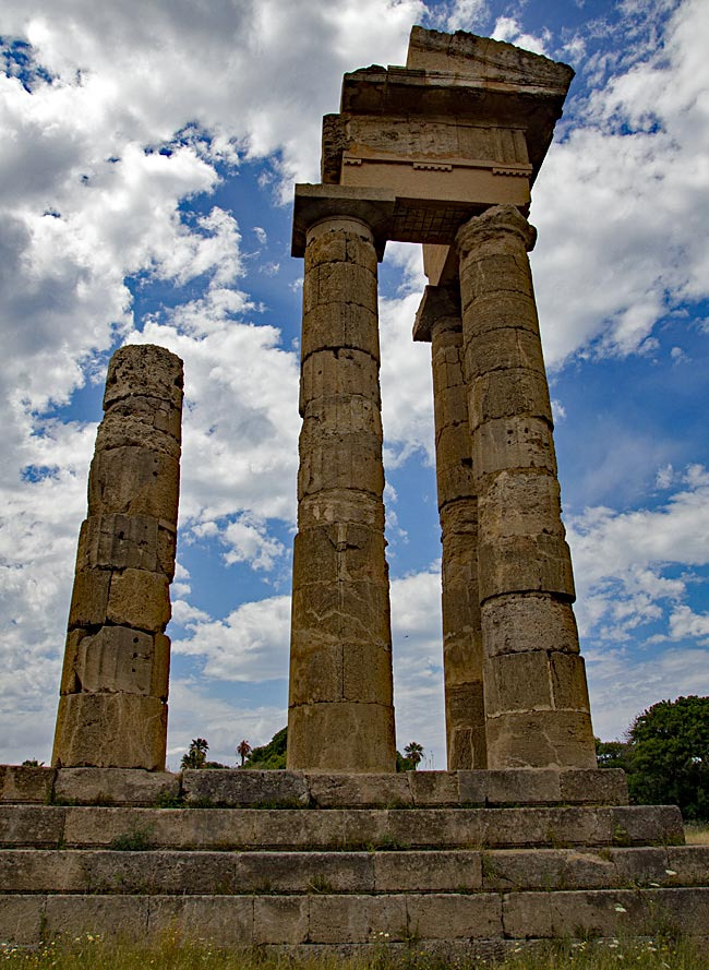 Rhodos Stadt - Apollon-Tempel auf dem Monte Smith