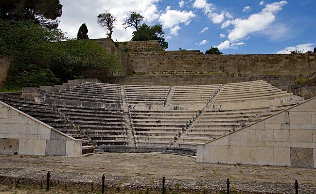 Rhodos Stadt - Rekonstruktion des antiken Theaters