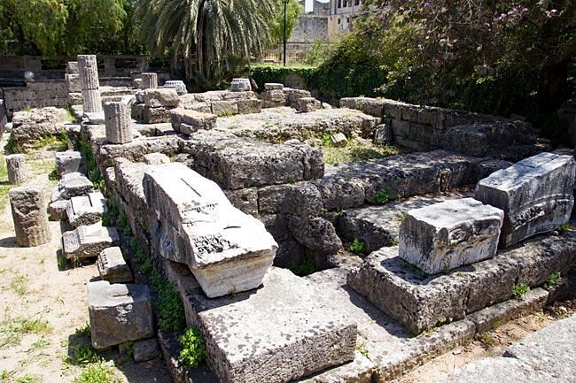 Rhodos Stadt - Ruine des dorischen Aphrodite-Tempels