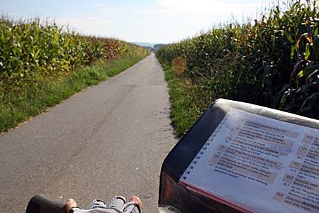 Piemont - Radweg nach Vische