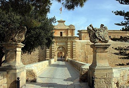 Malta - Mdina - altes Stadttor