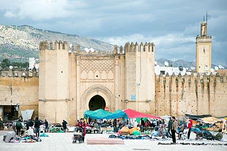 Marokko - Mittelalterlichen Stadttor Bab Chorfa in Fes