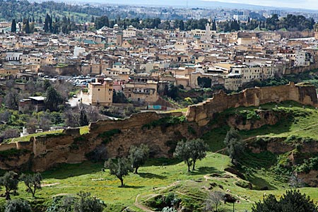 Marokko - Fes: Blick über die Stadt