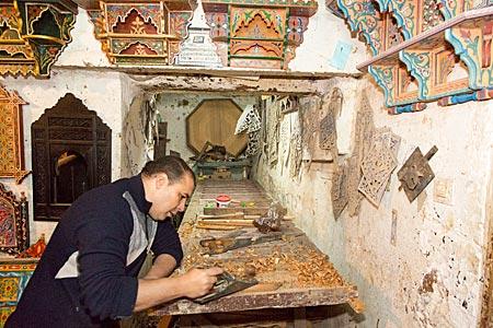 Marokko - Tischlerwerkstatt in der Altstadt von Fes