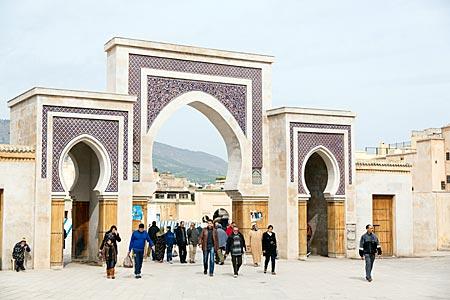 Marokko - Bab R'cif Stadttor der Altstadt von Fes