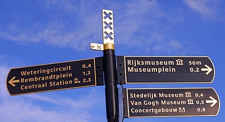 Niederlande - Amsterdam - Wegweiser
