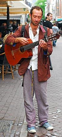 Niederlande - Amsterdam - Straßenmusiker