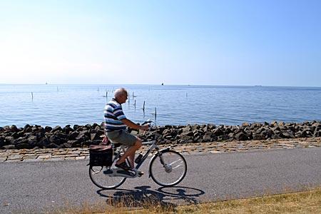 Niederlande - Flevoland - Immer am Wasser entlang: Radeln auf dem Deich zwischen Urk und Lemmer