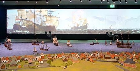Niederlande - Texel - Reede von Texel im Kaap Skil Museum
