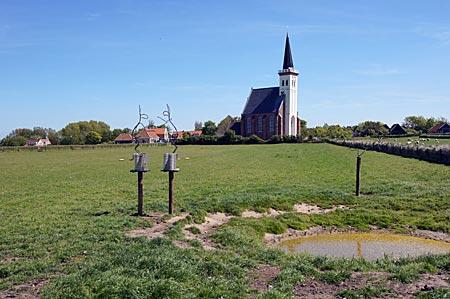 Niederlande - Texel - Kirche in Den Hoorn