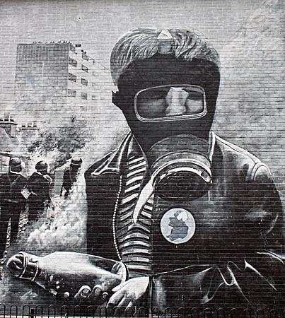 Nordirland - Nordirland - Murals (Wandgemälde) in/auf der Bogside (katholisches Stadtviertel) von Derry