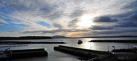 Nordirland - Rathlin Island, Hafeneinfahrt
