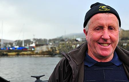 Nordirland - Rathlin Island - Neil McFaul auf der Fähre nach Rathlin