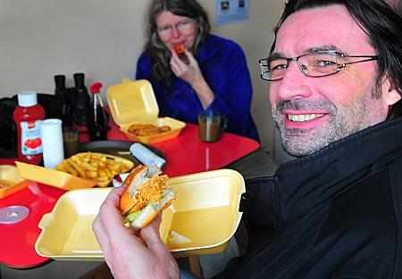 Nordirland - Rathlin Island - Gast Crap Burger