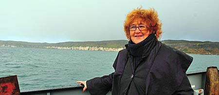Nordirland - Rathlin Island - Storytellerin Liz Weir
