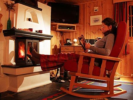 Norwegen - Hütte mit Kamin in Gala