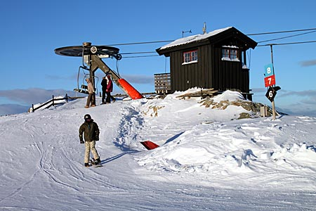 Norwegen - Skilift in Gala