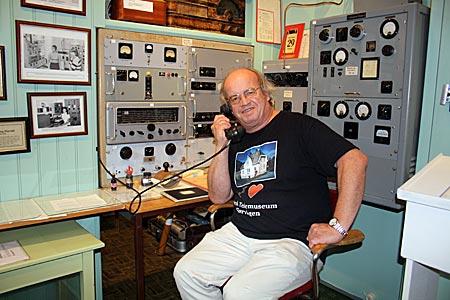 Norwegen - Lofoten - Kjell Alf Oere, Museumsleiter, im Norwegischen Telekommunikationsmuseum in Sørvågen